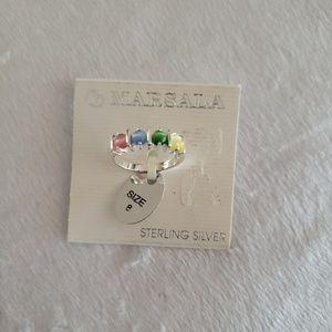 Marsala Sterling Silver Ring
